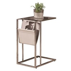 Merch-1188 Atlin Designs Metal End Table with Magazine Rack