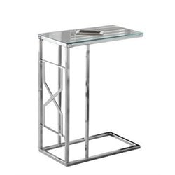Atlin Designs Metal End Table in Chrome