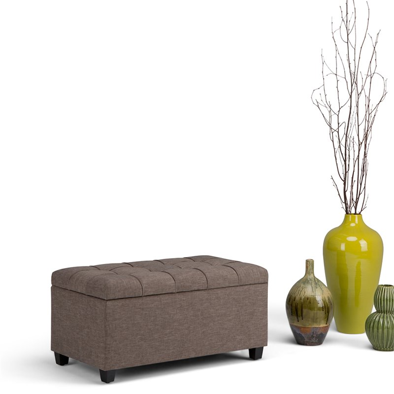 Atlin Designs Storage Ottoman in Fawn Brown
