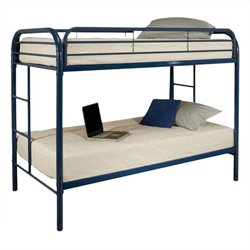 Rosebery Kids Twin Over Twin Bunk Bed in Blue