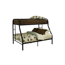 Rosebery Kids Twin Over Full Metal Bunk Bed in Black