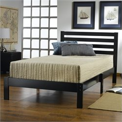 Rosebery Kids Twin Platform Bed in Black