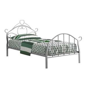 Rosebery Kids Twin Metal Bed Frame with Heart