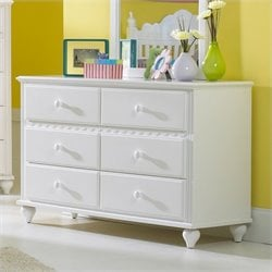 Rosebery Kids 6 Drawer Double Dresser in White