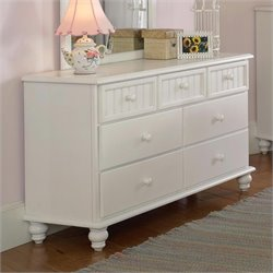 Rosebery Kids 7 Drawer Double Dresser in Off-White