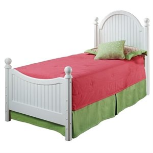 Rosebery Kids Twin Poster Bed in Off-White