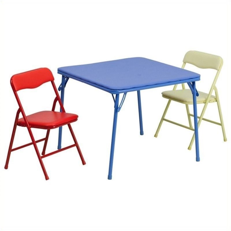 Rosebery Kids 3 Piece Folding Dining Table And Chair Set Rk 484873