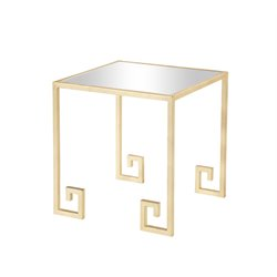 Burnham Home Designs Side Table in Gold Leaf