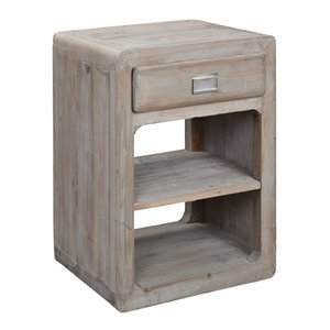 Burnham Home Designs Side Table in Gray Wash