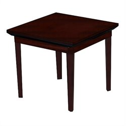 Mayline Corsica Square End Table in Sierra Cherry