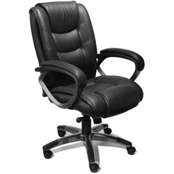 Mayline Utimo Deluxe High Back EZ Assemble Office Chair in Black