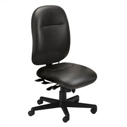 Mayline Comfort 24-Hour High Performance Multi Function Chair in Black