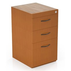 Mayline Corsica 3 Drawer Pedestal File Cabinet for Credenza in Cherry