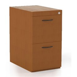 Mayline Corsica 2 Drawer Pedestal File Cabinet for Desk in Cherry