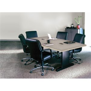 Mayline CSII Conference Table in Black Gray Laminate