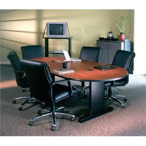 Mayline CSII Racetrack Conference Table in Black Mahogany Laminate