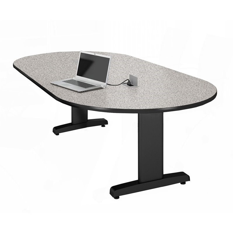 Mayline CSII 10' Racetrack Conference Table with Trestle Base