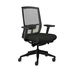 Mayline Gist Mesh Back Office Chair in Black