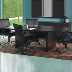 Mayline Aberdeen 8' Boat Shaped Conference Table with Slab Base