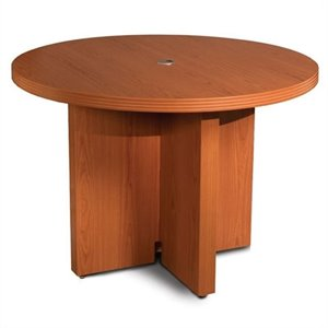 Mayline Aberdeen 3.5' Round Conference Table with X-Shaped Base