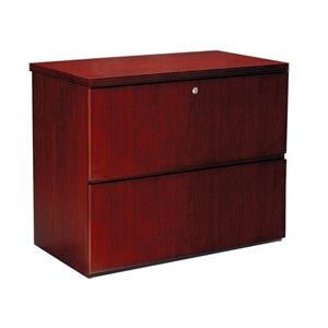 Mayline Luminary 2 Drawer Lateral Wood File Cabinet in Cherry Finish