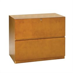 Mayline Luminary 2 Drawer Lateral Wood File with Unfinished Top - Cherry