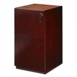 Mayline Luminary 2 Drawer Vertical Wood File Pedestal for Credenza - Cherry
