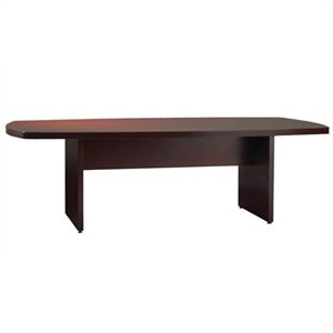 Mayline Luminary Curved End 6' Conference Table with Curved Base in Cherry