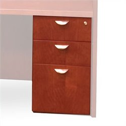 Mayline Mira 3 Drawer Pedestal in Cherry