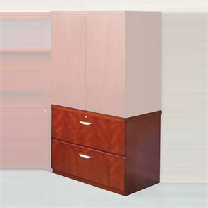 Mayline Mira 2 Drawer Lateral Wood File with Unfinished Top in Medium Cherry