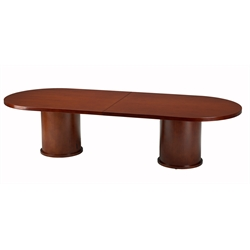 Mayline Mira Racetrack 8' Conference Table with Column Base in Cherry