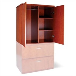 Mayline Mira Wardrobe Unit in Medium Cherry