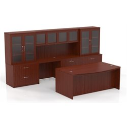 Mayline Aberdeen Typical AT7 Executive Desk Suite in Cherry