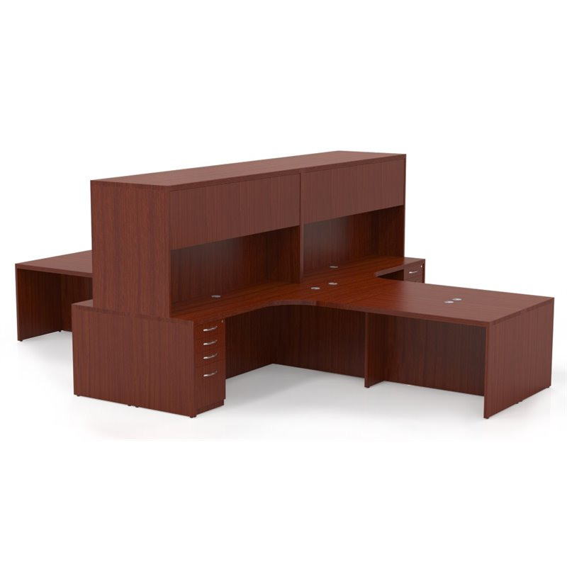 Mayline Aberdeen Typical AT27 4 Executive Desk Suite in Cherry