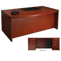 Mayline Mira Desk and Two (2) Box-Box-File Pedestals