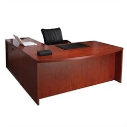 Mayline Mira Desk Return and Two Box-Box-File Pedestals