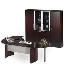 Mayline Napoli 7-Piece Desk Set in Mahogany
