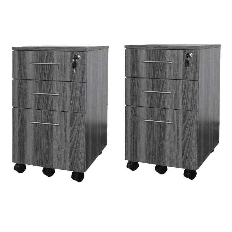 Mayline Value Pack Pedestal (Box-Box-File) in Gray Steel (Set of 2)
