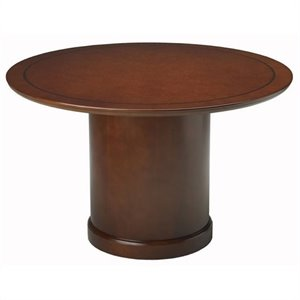 Mayline Sorrento 4' Round Conference Table with Column Base