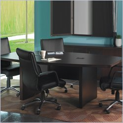 Mayline Aberdeen 12' Boat Shaped Conference Table with Slab Base