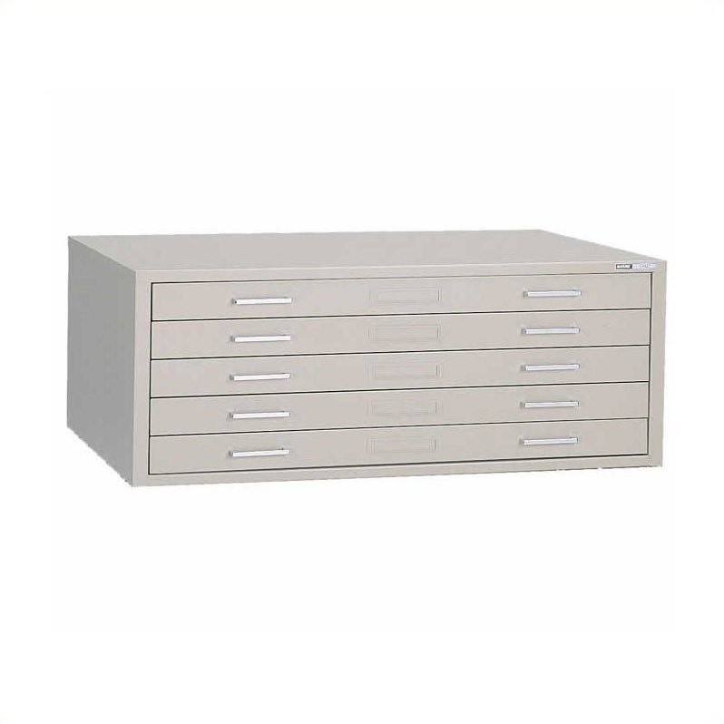 Mayline C-Files 5 Drawer Metal Flat Files with Dust Covers