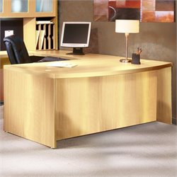 Mayline Aberdeen Bow Front Desk Shell in Maple - 66