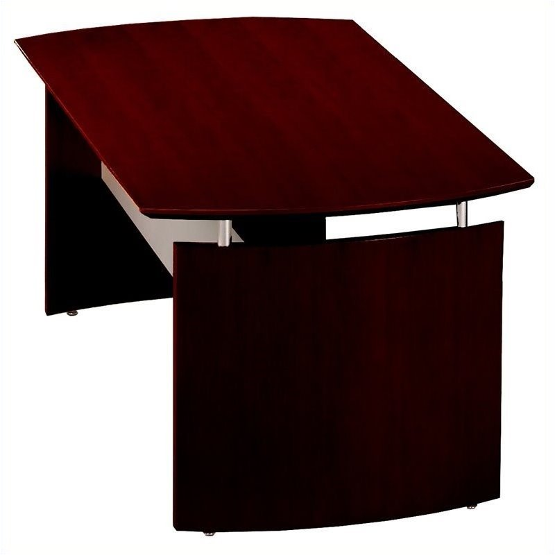 Mayline Napoli Wood Computer Desk In Mahogany NDXXMAH - Napoli conference table