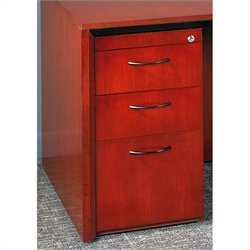 Mayline Corsica 3 Drawer Pedestal File  for Credenza/Return - Mahogany