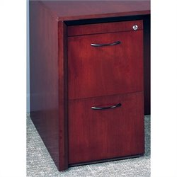Mayline Corsica 2 Drawer Vertical Wood Filing Pedestal for Credenza - Sierra Cherry on Cherry Veneer