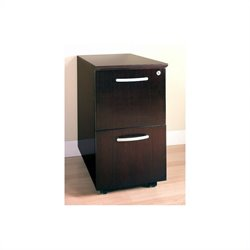 Mayline Corsica 2 Drawer Mobile Vertical Wood Filing Cabinet - Sierra Cherry on Cherry Veneer