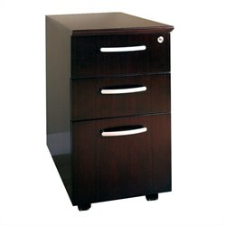 Mayline 3 Drawer Mobile Wood Filing Cabinet - Sierra Cherry