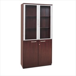 Mayline Corsica Cabinet with Glass Doors