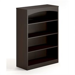 Mayline Brighton 4 Shelf Bookcase in Mocha