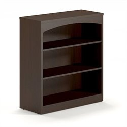 Mayline Brighton 3 Shelf Bookcase in Mocha